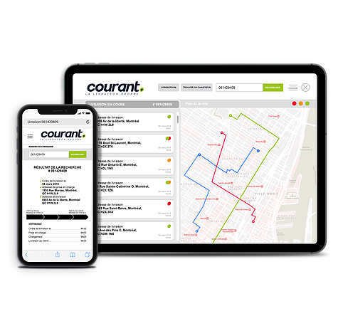 Interface App Courant Plus Maps
